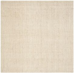 Muriel Hand-Woven Ivory Area Rug Rug Size: Square 5'