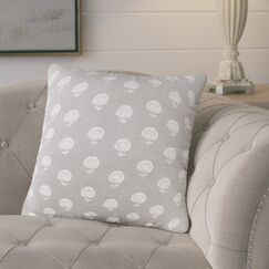 Whigham Throw Pillow Color: Pewter