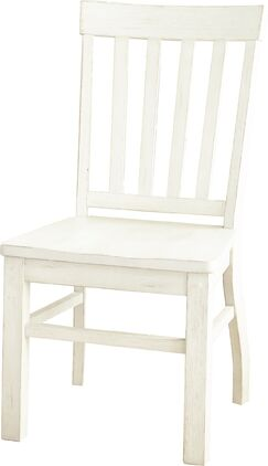 Embry Solid Wood Dining Chair (Set of 2) Chair Finish: Antique White
