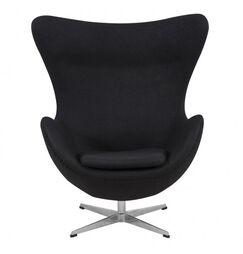 Quarterman Contemporary Swivel Lounge Chair Upholstery: Black