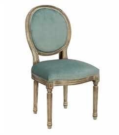 Lara Upholstered Dining Chair Frame Color: Gray, Upholstery Color: Teal