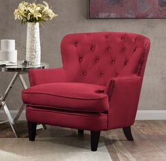 Collingdale Armchair Upholstery: Claret Red