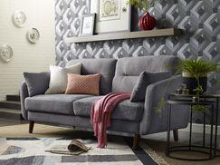 Chloe Mid-Century Modern Loveseat Upholstery: Dark Gray