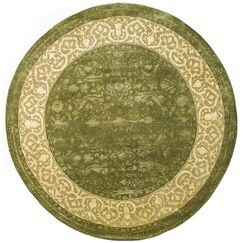 Silk Road Spruce/Ivory Area Rug Rug Size: Round 3'6