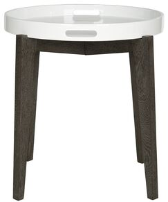 Ben End Table Color: White and Brown