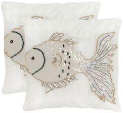 Kissy Fish Throw Pillow