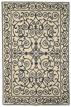 Chelsea Ivory/Blue Iron Gate Rug Rug Size: Rectangle 8'9