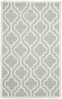 Mahoney Hand-Tufted Spa/Ivory Area Rug Rug Size: Rectangle 3' x 5'