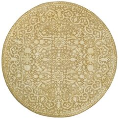 Silk Road Ivory Area Rug Rug Size: Round 6'