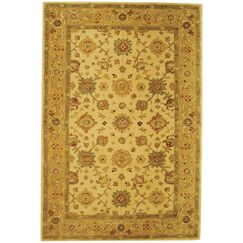 Pritchard Hand-Woven Wool Ivory/Gold Area Rug Rug Size: Rectangle 8' x 10'