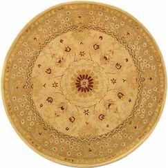 Anatolia Sand/Walnut/Green Area Rug Rug Size: Rectangle 3' x 5'