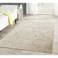 Stone Wash Hand-Woven Cotton Beige Area Rug Rug Size: Rectangle 9' x 12'