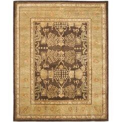 Bergama Brown/Green Area Rug Rug Size: Rectangle 9' x 12'