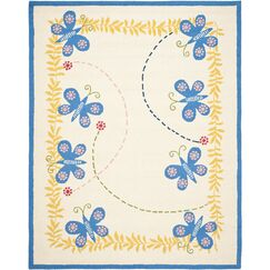 Claro Butterfly Area Rug Rug Size: Rectangle 2' x 3'