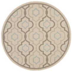 Asheville Beige/Gray Indoor/Outdoor Area Rug Rug Size: Round 6'7