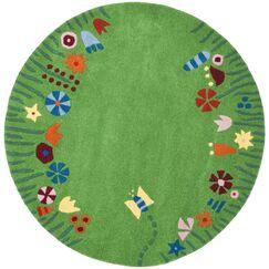 Claro Green / Multi Rug Size: Square 6'