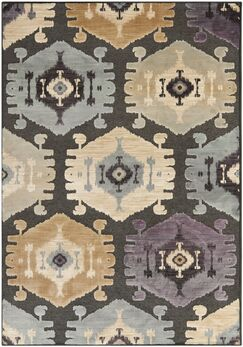 Thom Filicia Charcoal/Beige Area Rug Rug Size: Rectangle 5'3