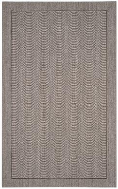 Fiske Solid Sisal Silver Area Rug Rug Size: Rectangle 4' x 6'