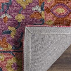 Chancellor Hand-Tufted Wool Pink Area Rug Rug Size: Rectangle 9' x 12'