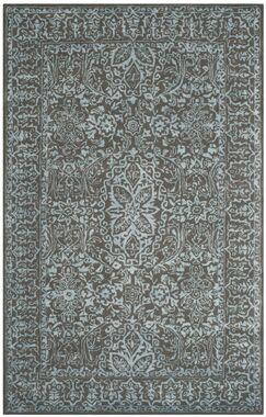 Samaniego Hand-Tufted Wool Dark Gray Area Rug Rug Size: Rectangle 8' x 11'