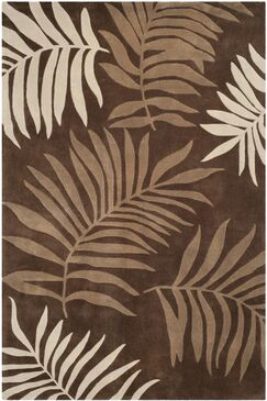 Gainesville Hand Tufted Brown Area Rug Rug Size: Rectangle 6' x 9'