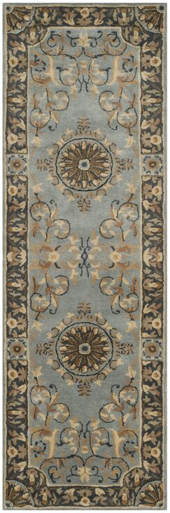 Latarra Hand Tufted Wool Blue Area Rug Rug Size: Runner 2'6
