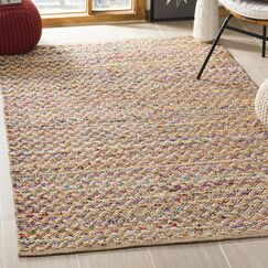 Reinheimer Hand Woven Red/Natural Area Rug Rug Size: Rectangle 5' x 8'