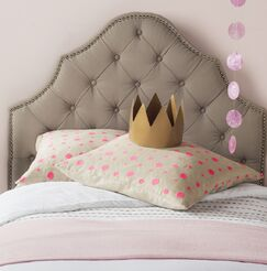 Christophe Upholstered Panel Headboard Size: Queen, Color: Taupe, Upholstery: Linen