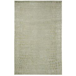 Amazonia Hand-Tufted Gray/Green Area Rug Rug Size: Rectangle 5'6