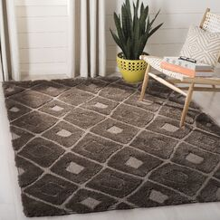 Helms Brown/Beige Area Rug Rug Size: Rectangle 6'7