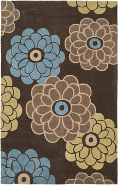 Modern Art Brown/Multi Rug Rug Size: Rectangle 8' x 10'