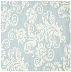 Eldridge Blue / Ivory Contemporary Rug Rug Size: Square 6'