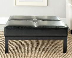 Bellows Cocktail Ottoman Upholstery: Black