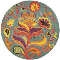Broadmoor Blossom Area Rug Rug Size: Round 4'