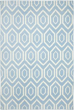 Gem Jam Hand-Woven Wool Blue/Ivory Area Rug Rug Size: Rectangle 10' x 14'
