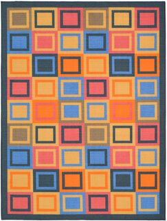 Metropolis Blue/Multi Rug Rug Size: Rectangle 4'7