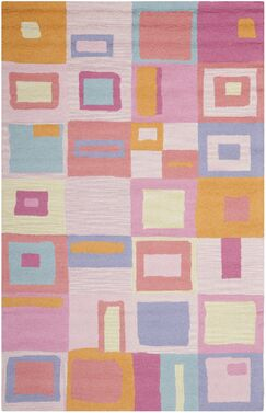 Claro Geometric Pink Area Rug Rug Size: Rectangle 4' x 6'