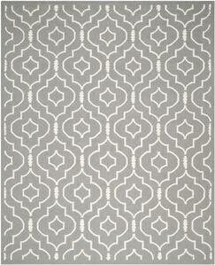 Crawford Hand-Woven Gray/Ivory Area Rug Rug Size: Rectangle 9' x 12'