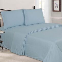 Embossed Sheet Set Color: Light Blue, Size: Full