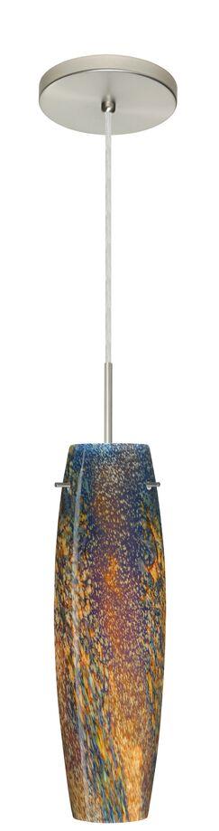 Tutu Pendant Bulb Type: Incandescent, Finish: Satin Nickel, Glass Shade: Ceylon