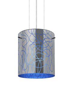 William 1-Light Pendant Finish: Satin Nickel, Shade Color: Blue