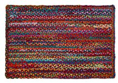 Carnivale Braided Red Area Rug Rug Size: Rectangle 2' x 3'
