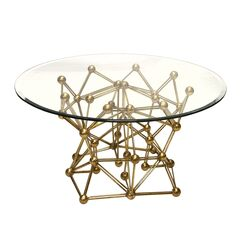 Molecule Coffee Table Color: Gold, Size: 18.5