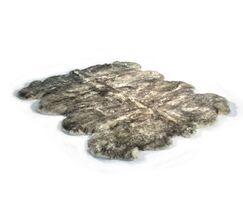 Traditional Gold Star Hand Woven Sheepskin Black/Gray Area Rug Rug Size: Rectangle 6' x 7'6