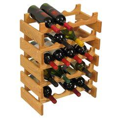 Dakota 20 Bottle Floor Wine Rack Finish: Light Oak