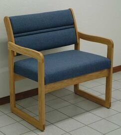 Valley Bariatric Guest Chair Seat Color: Arch Olive, Wood Finish: Mahogany