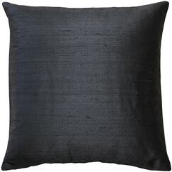Ernestine Solid Silk Throw Pillow Size: 16