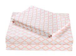 2 Piece Darling Diamond Cotton Sheet Set
