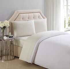 Solid Cotton Sheet Set Color: Almond Milk, Size: Twin