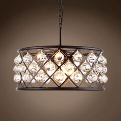 Lulsgate 5-Light Chandelier Shade Color: Clear, Finish: Gray, Bulb Type: Incandescent